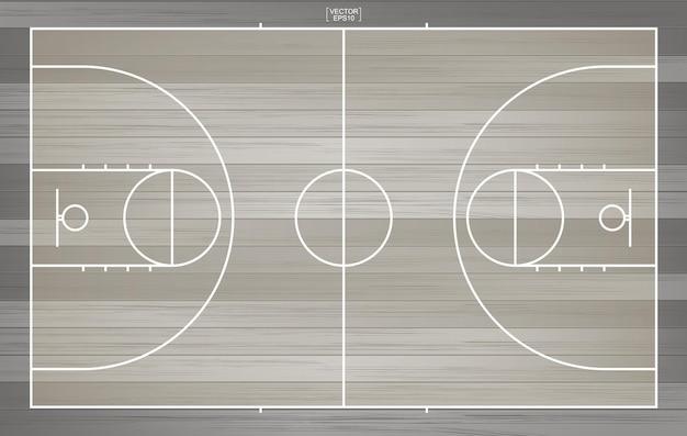 Sfondo di campo da basket. campo da basket. illustrazione vettoriale.