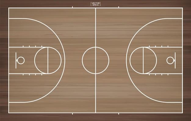 Illustrazione del campo da basket