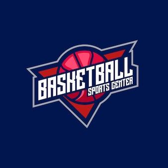 Emblema del logo di sport e sport di basket