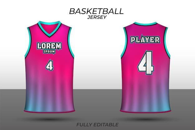 Modello di disegno della maglia da basket