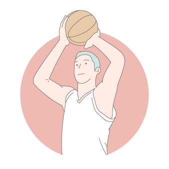 Giocatore di pallacanestro, illustrazione di concetto