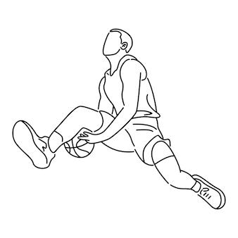 Giocatore di basket inzuppato