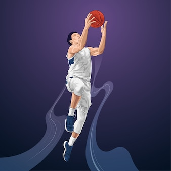 Tiro di salto del giocatore di pallacanestro
