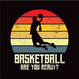 Sillhouete di pallacanestro