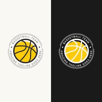 Concetto di design del logo del campionato della squadra di basket