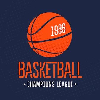 Illustrazione vettoriale di pallacanestro stampa su t-shirt. sport
