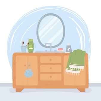 Specchio per arredo bagno Vettore Premium