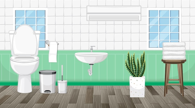 Interior design del bagno con mobili