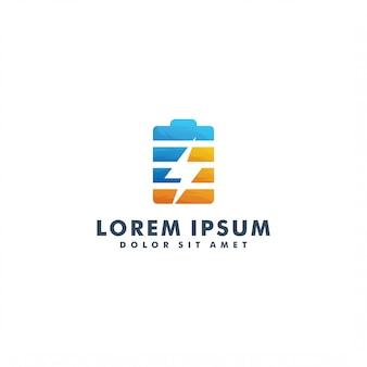 Modello di logo del caricabatterie