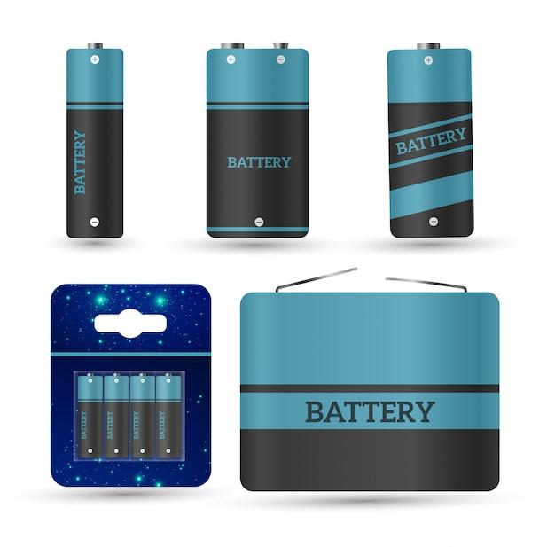 Caricabatterie con batterie scariche e indicatori a dito, alto isolato.