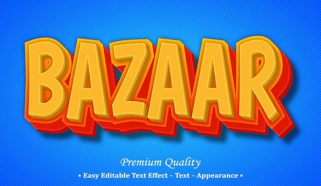 Effetto stile testo modificabile bazar