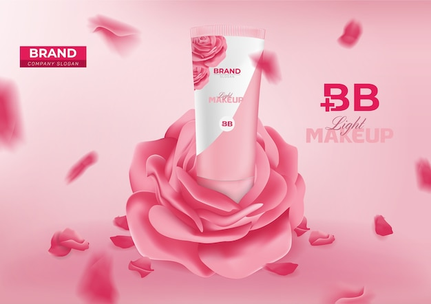 Banner pubblicitario cosmetico bb beauty cream