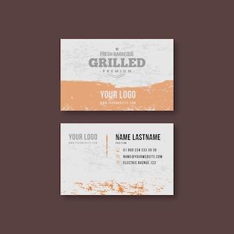 Biglietto da visita bifacciale orizzontale barbecue