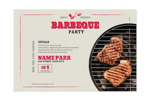 Modello di banner per barbecue e barbecue