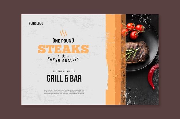 Picnic barbecue con banner di pomodorini