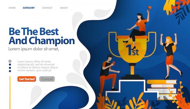 Essere il migliore e campione, trofeo per il numero uno