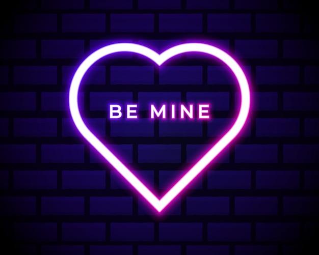 Insegna al neon be mine valentine