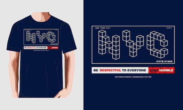 Sii rispettoso stampa grafica vettoriale della maglietta di tipografia vettore premium