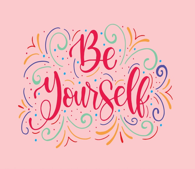 Sii te stesso, scritte a mano con testo di iscrizione