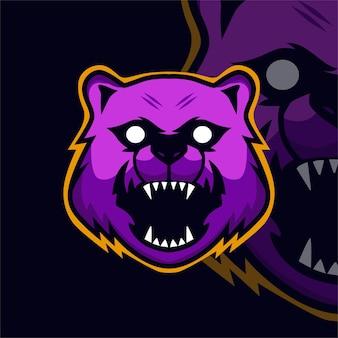Logo della mascotte del gioco bea esport