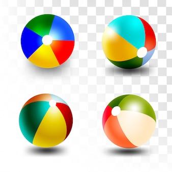 Pallone da spiaggia in stile 3d
