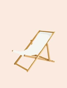 Sedia a sdraio, chaise longue, vacanza e vacanza - vettore