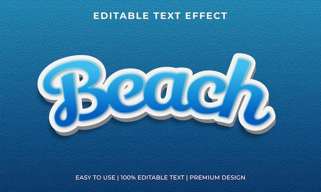 Vettore premium effetto testo modificabile spiaggia