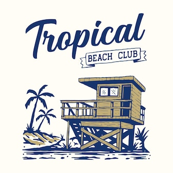 Illustrazione della spiaggia