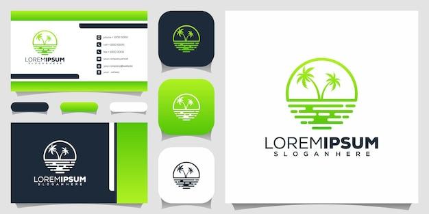 Design del logo spiaggia