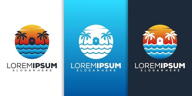 Design del logo della spiaggia