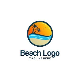 Vettori di logo spiaggia