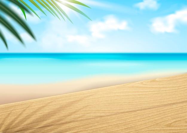 Sfondo bokeh scena spiaggia