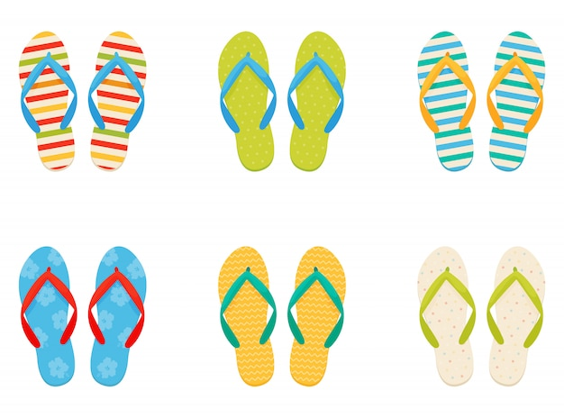 Sneakers da spiaggia. ambientato in uno stile piatto.