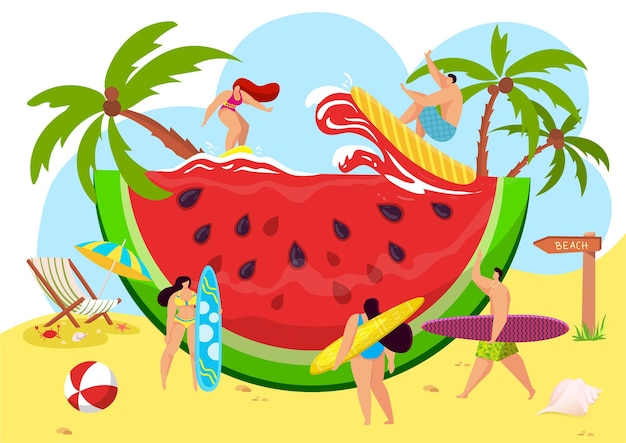 Anguria tropicale della spiaggia