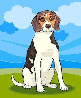 Illustrazione del fumetto del cane beagle
