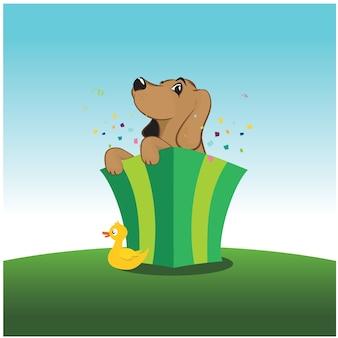 Vettore del cane del cane da lepre