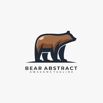 Bear abstract pose illustrazione.