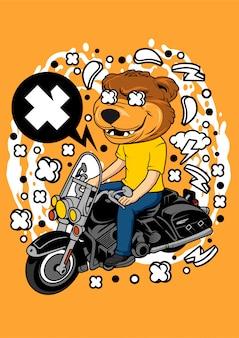 Illustrazione dell'orso biker