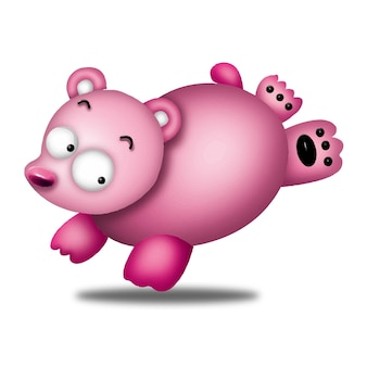 Orso cartone animato simpatici animali selvatici pet barbie personaggio bambola dolce modello emozione arte