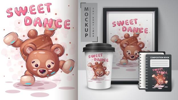 Poster e merchandising della danza dell'orso