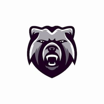 Orso logo mascotte esport