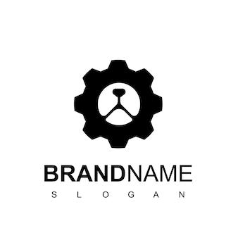 Logo dell'ingranaggio dell'orso