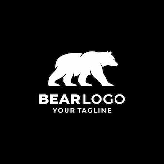 Bear logo design template vettoriale