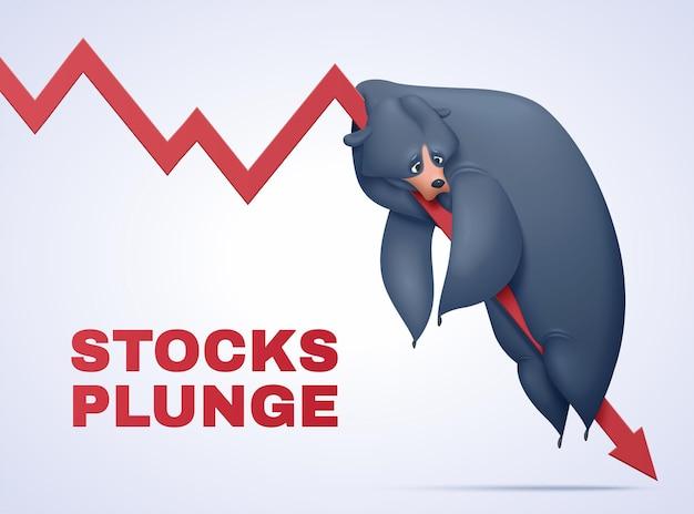 Illustrazione del concetto di mercato dell'orso
