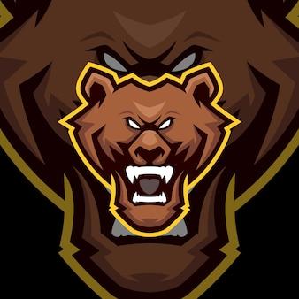 Modelli di logo mascotte orso