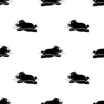 Orso polare seamless pattern nuoto orsacchiotto