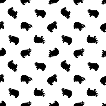 Orso polare seamless pattern teddy illustrazione