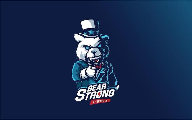 Bear logo forte per e sport