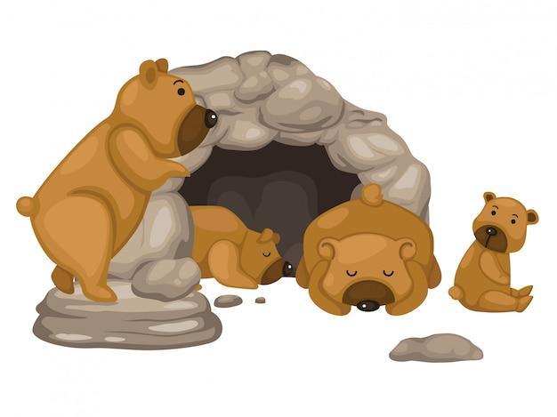Vettore orso