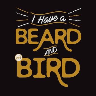 Barba e uccello